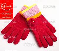 Шерстяные перчатки с начёсом на девочку Douhia DP05-2-R
