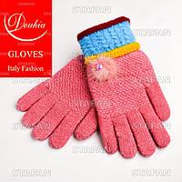 Шерстяные перчатки с начёсом на девочку Douhia DP05-4-R