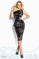 Платье съемная баска. Цвет черный.