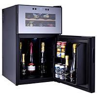 Холодильник мини бар с отделением для бутылок HILTON RF 6901