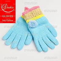 Шерстяные перчатки с начёсом на девочку Douhia DP05-5-R