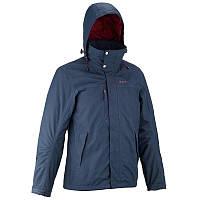 Куртка мужская демисезонная Quechua RAINWARM 300 3 в 1 синяя