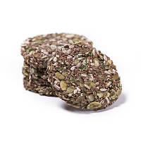 Хлебцы цельнозерновые из семян льна, подсолнуха, тыквы и кунжута без соли Живая Кухня 100 грамм