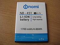 Аккумулятор Nomi i451 Twist NB-46 nb-451 1700 mAh)