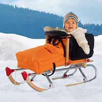 Зимние конверты на овчине для санок и колясок