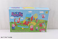 """Домик """"Peppa Pig """" DT0088-1 фигурки,игровая площадка в кор.38*25*6см"""