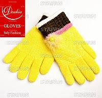 Шерстяные перчатки с начёсом на девочку Douhia DP05-7-R