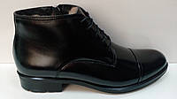 CONHPOL мужские кожанные зимние ботинки на меху