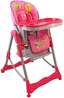 Кресло для кормления высокое Alexis Baby Mix розовое с регулировкой