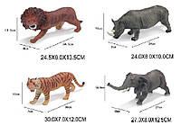 Животные резиновые 55660/02/03/04 (1504749-50-51-52) 4 вида, 30*7*12см