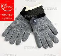 Шерстяные перчатки с начёсом на девочку Douhia DP05-8-R