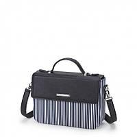 Женская сумка Dolly 462 классическая в полоску в комплекте ремешок