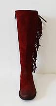 Сапоги зимние замшевые бордовые Lan-Kars 431-153, фото 2