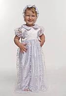 Комплект крестильное платье для девочки с гипюром белый размер 62, 68,74