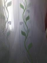 """Тюль вуаль фентези """"Плетение"""" зеленый, фото 3"""