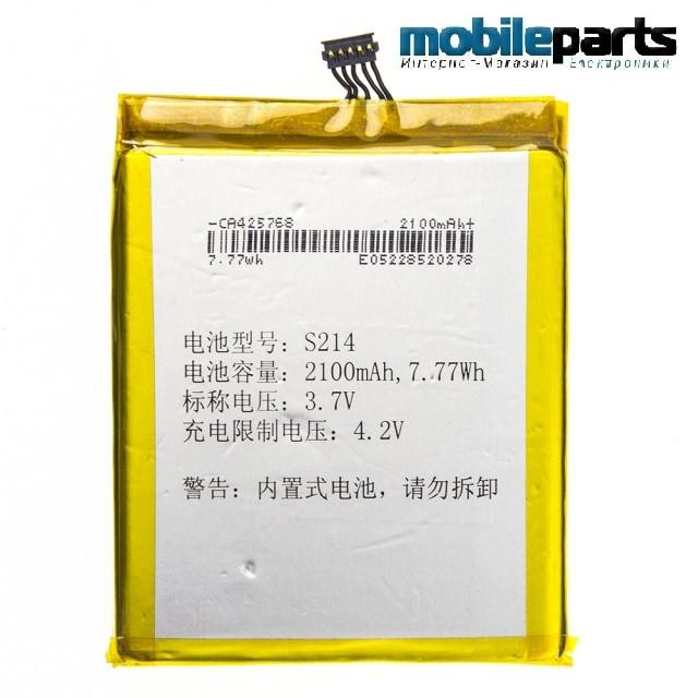 Оригинальный аккумулятор АКБ для FLY S214 / IQ444, IQ444Q 2100mAh