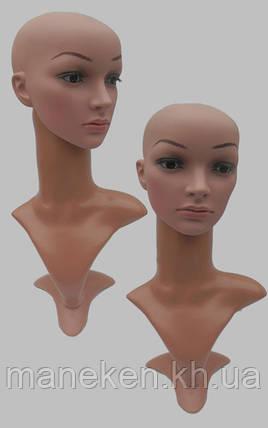 Манекен бюст с реалистичной ПУ головой + макияж, фото 2