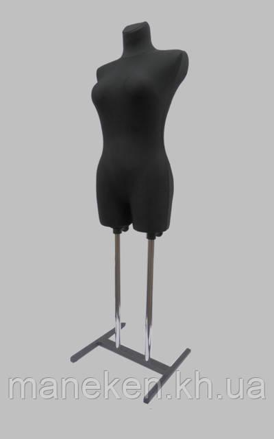 Манекен объемный торс женский венера в ткани к подставке