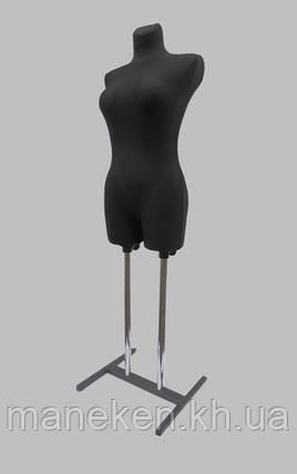 Манекен объемный торс женский венера в ткани к подставке, фото 2