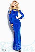 Шикарное праздничное платье. Цвет синий электрик.