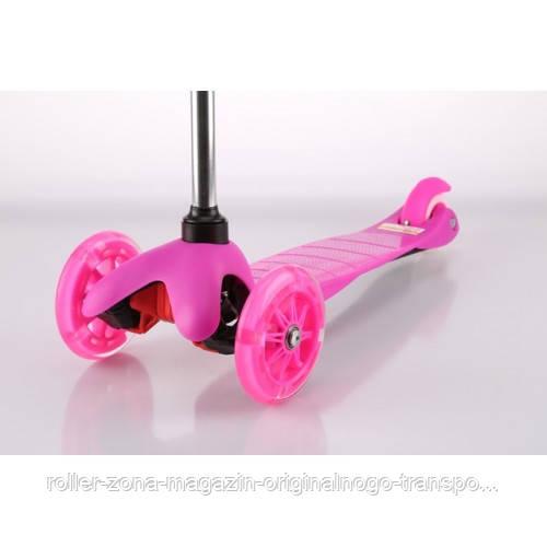 Самокат Trolo Mini LIMITED (pink) Со свет. колесами