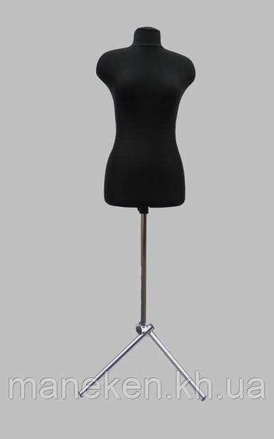 Манекен выставочный Марина в ткани для триноги р44