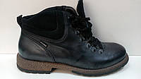 BADURA  мужские кожанные зимние ботинки серого цвета