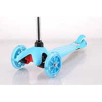 Самокат Trolo Mini LIMITED (sky blue) Со свет. колесами