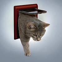 Дверь двухсторонняя Trixie Classic для кошек, 21х21 см, фото 1