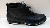 BADURA  мужские кожанные зимние ботинки черного цвета