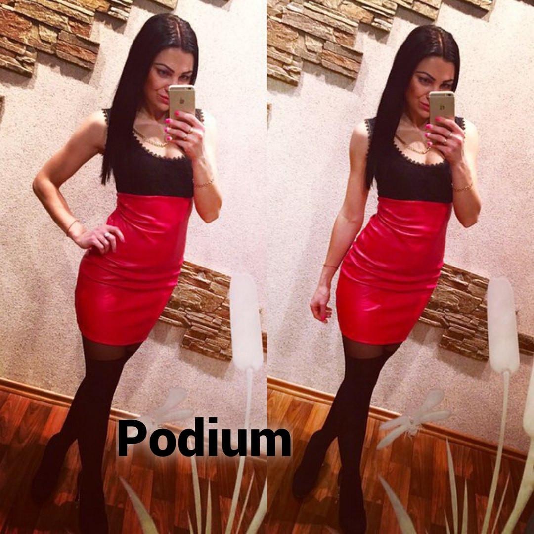 f94d3ce7d65 Платье экокожа и гипюр - Интернет-магазин