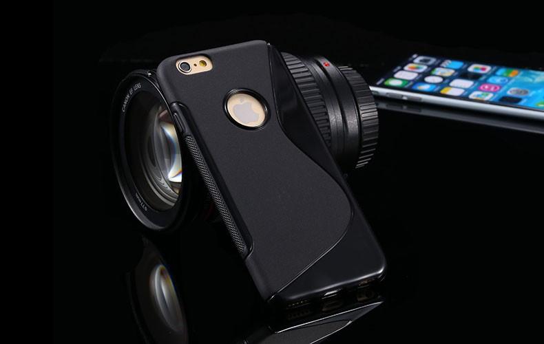 Чехол Iphone 6 / 6S силикон TPU S-LINE черный