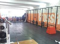 Резиновое напольное покрытие в Тренажёрный зал., фото 1