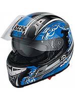 Мотошлем IXS HX 570 Intruder синий черный белый S