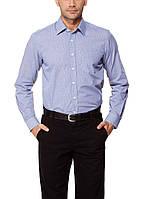 Мужская рубашка LC Waikiki голубого цвета в тонкую синюю клетку