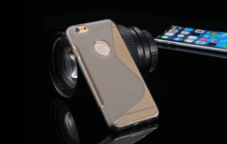 Чехол Iphone 6 / 6S силикон TPU S-LINE серый