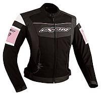 Куртка женская PUMPKIN BLACK/PINK кожа 06-L, арт. E1069F