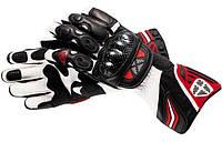 Перчатки RS KING BLACK/RED кожа 03-XS, арт. E6173
