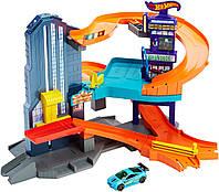 Трек Хот Вилс город скорости Hot Wheels Workshop Track Builder Speedtropolis Track Se