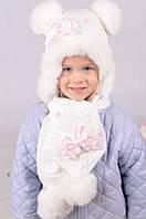 Зимний набор шапка и шарф для девочки 1852