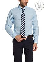 Мужская рубашка LC Waikiki голубого цвета  L
