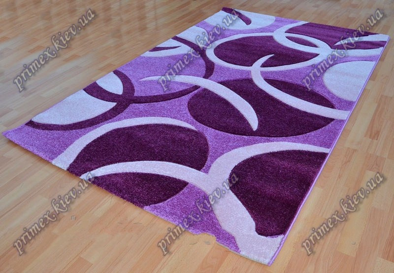 """Рельефный ковер Фрузе """"Шалтай"""", цвет фиолетовый"""