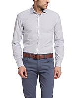Мужская рубашка LC Waikiki белого цвета в мелкий горошек