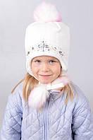 Красивая зимняя шапка для девочки 3025