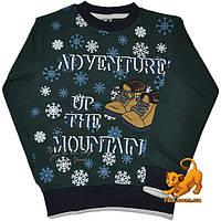 """Детский теплый гольф """"Adventure In The Mountains"""", из трикотажа с начесом , для мальчика (рост 92-128 см)"""