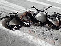 Модные кожаные браслеты adidas, nike, puma