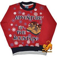 """Детский теплый гольф """"Adventure In The Mountains"""", трикотажный , с начесом , для мальчиков (рост 92-128 см)"""
