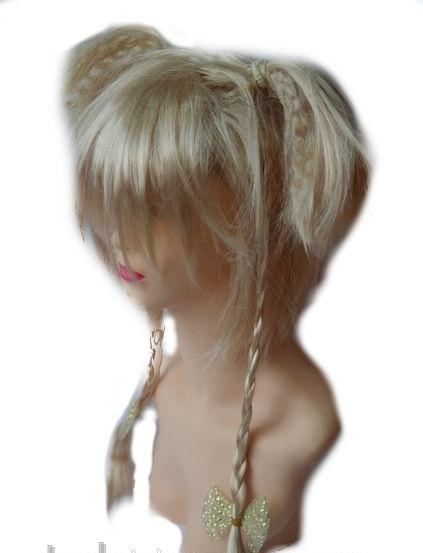 Перука Хвостики кіски блонд