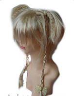 Парик Хвостики косички блонд