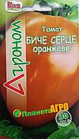 """Семена томата Бычье оранжевое, среднеспелый 30 шт, """"Агроном"""", Украина"""